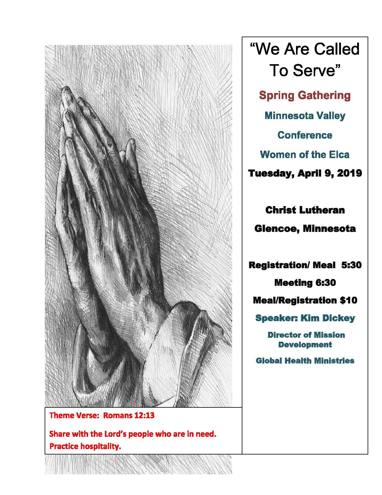 Minnesota Valley 2019 Spring Gathering @ Christ Lutheran Church