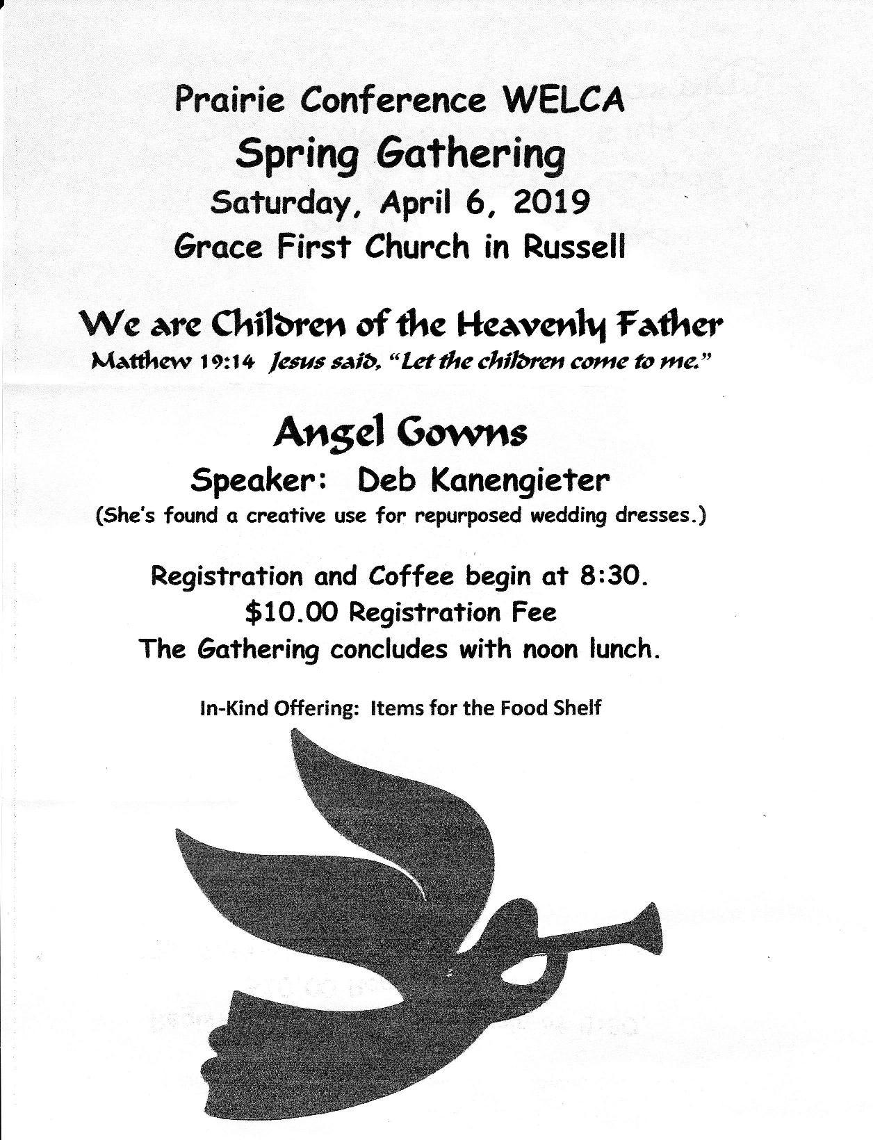 Prairie 2019 Spring Gathering @ Grace First Church